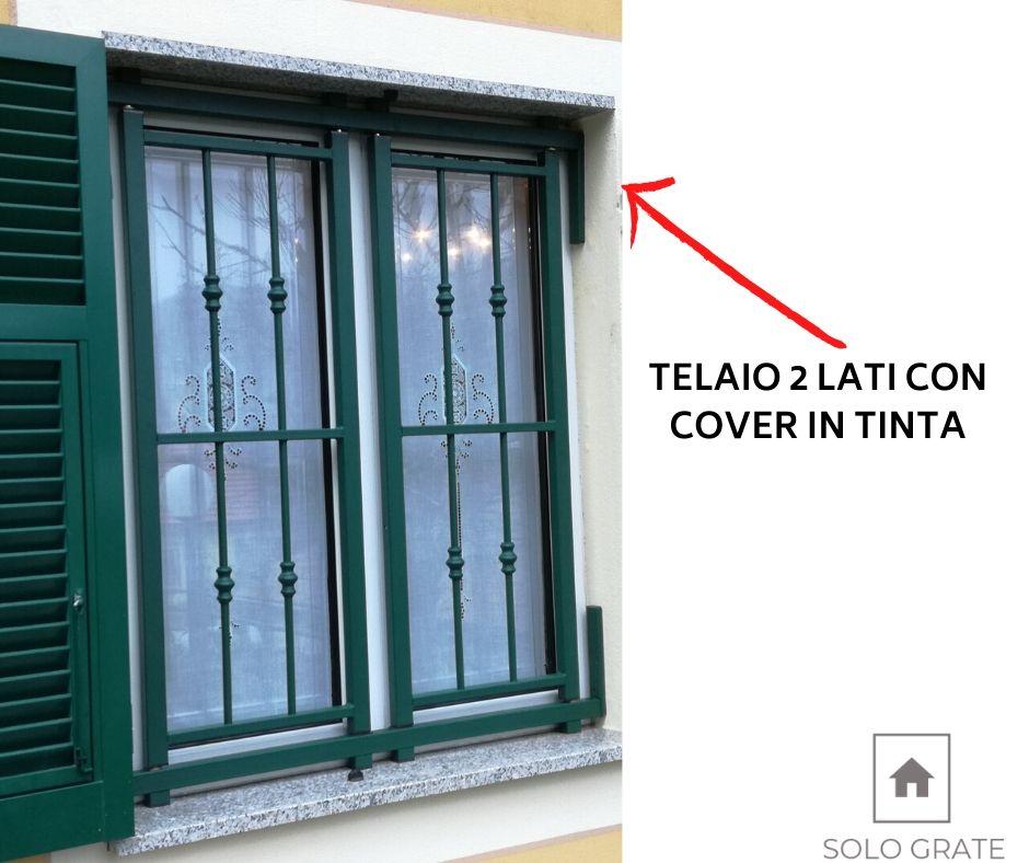 inferriate per finestre con persiane genova: dettaglio soluzione per non smontare la persiana